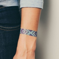 Tatouage - Bracelet Bleu - Lot de 2