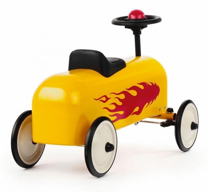 porteur-racer-jaune-flammes-rouge-baghera