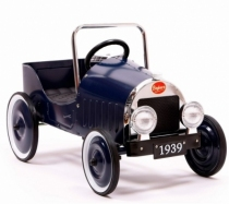 voiture-pedale-metal-bleue