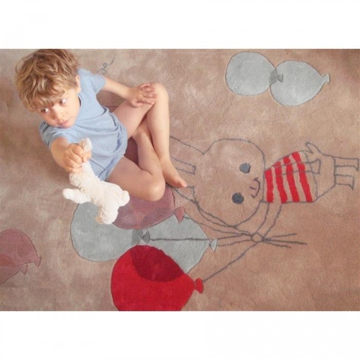 tapis-enfant-ballon-lapin-multicolore