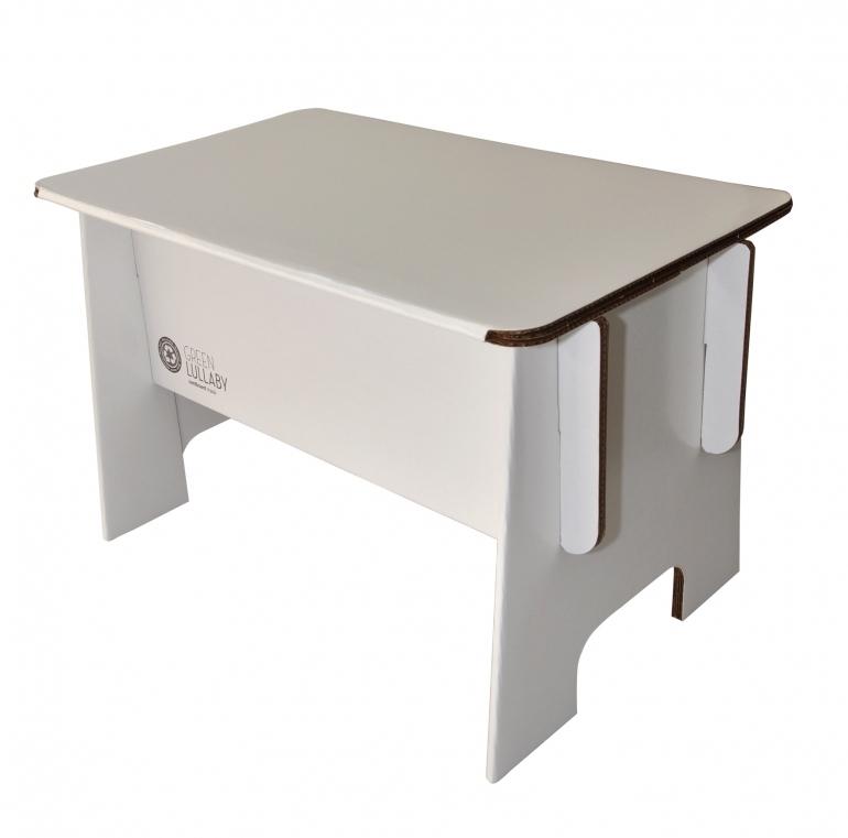 Bureau-enfant-blanc-carton-recycle