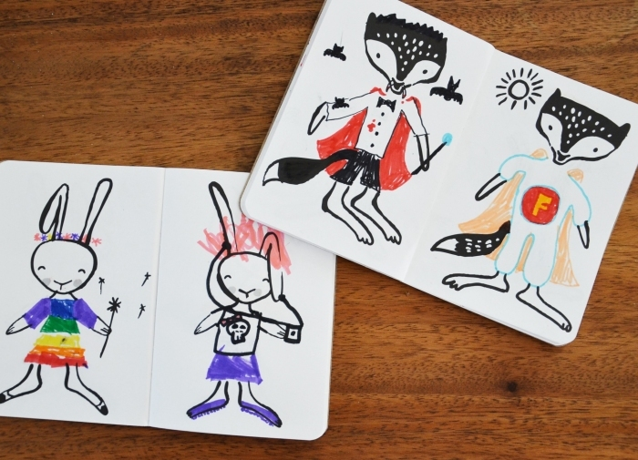 cahier-wee-gallery-lapin-renard-decores