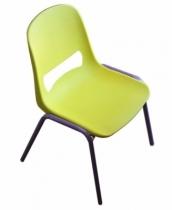 Chaise-plastique-jaune-et-violette-enfant