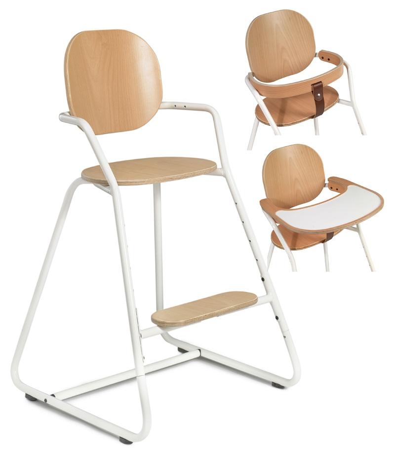 Chaise haute pour b b evolutive pied blanc - Chaise haute blanche ...