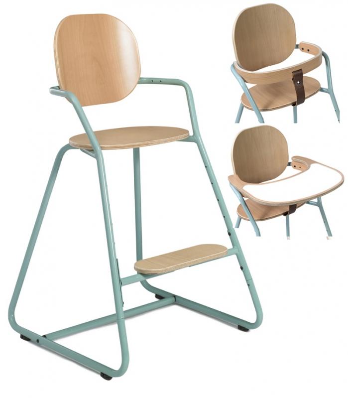 chaise haute pour b b evolutive pied bleue. Black Bedroom Furniture Sets. Home Design Ideas