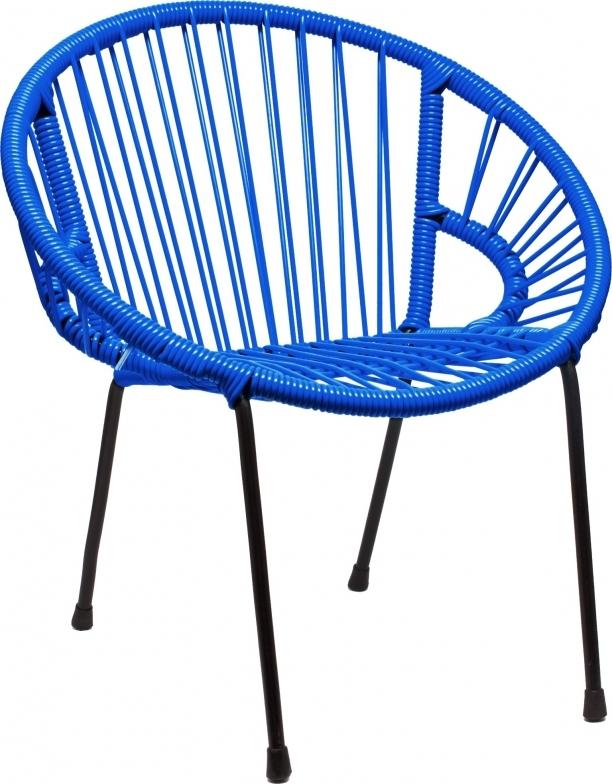 Chaise en scoubidou tress pour enfant mod le bleu for Chaise enfant scoubidou