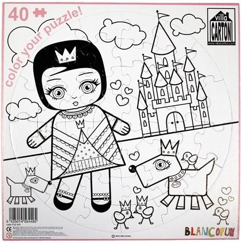 Puzzle-carton-coloriage-princesse-villa-carton