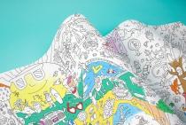 Coloriage géant Frise 4 saisons