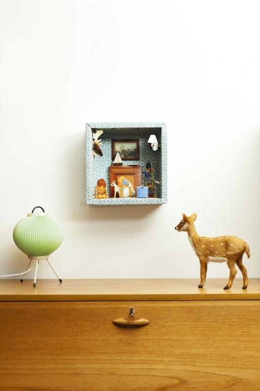 Idee-decoration-vintage-tableau-3D-carton
