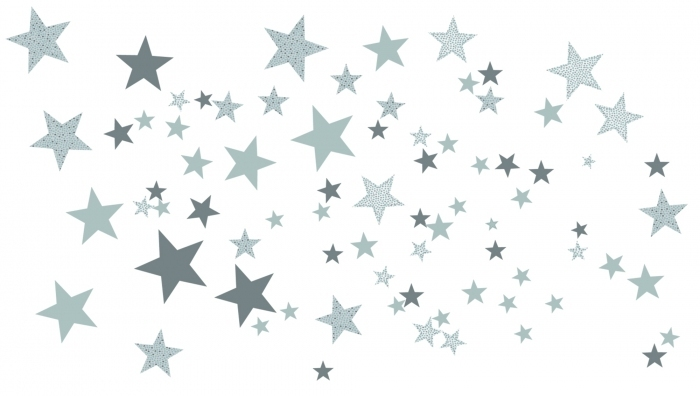 decoration-chambre-enfant-etoiles-grises
