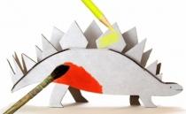 colorier-dinosaure-carton