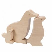 famille-pingouin-jouet-bois