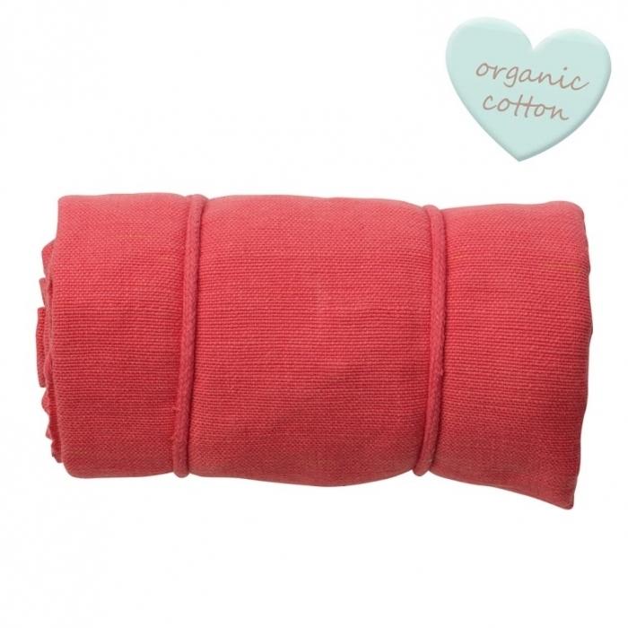 Hamac-rouge-cerise-coton-bio-bebe