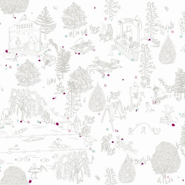 motif-foret-illustration-linge-de-lit