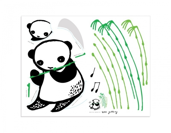 Deco-chambre-enfant-noir-blanc-vert-panda