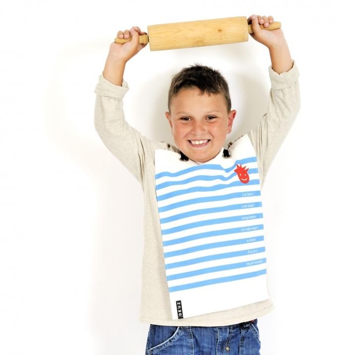 Serviette-table-tablier-bleu-blanc