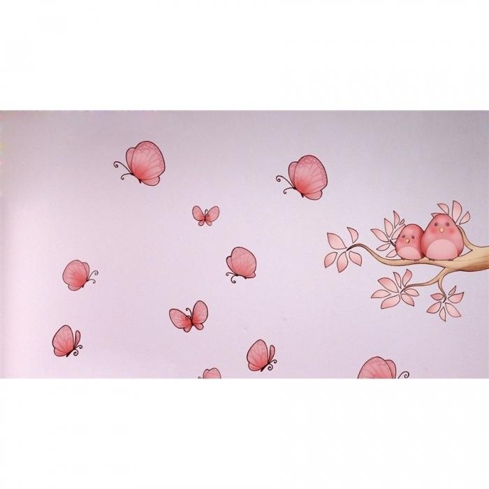 Sticker-chambre-enfant-papillon-branche-oiseaux