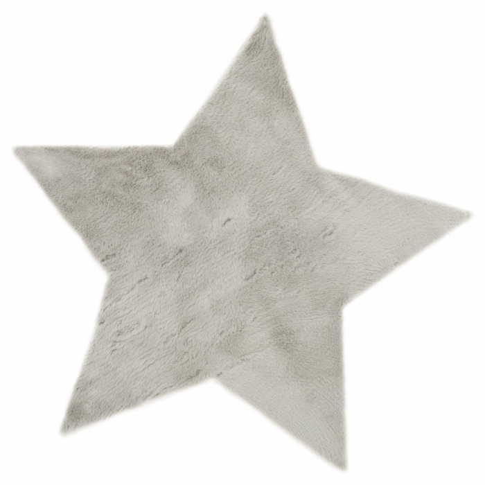 pile-poil-tapis-fourrure-etoile-grise