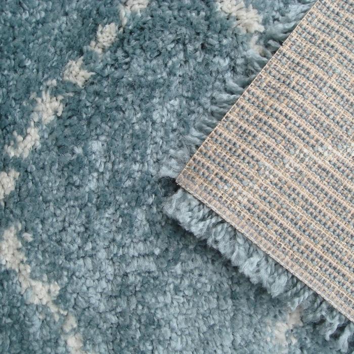 zoom-tapis-shaggy-nomad-bleu