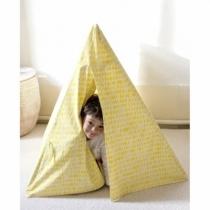 Deuz-tente-cabane-enfant-jaune