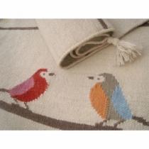 Artforkids-joli-tissage-tapis-oiseaux-kilim