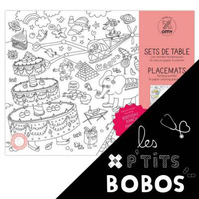 Set de table à colorier - Fantastic - P'tit bobo