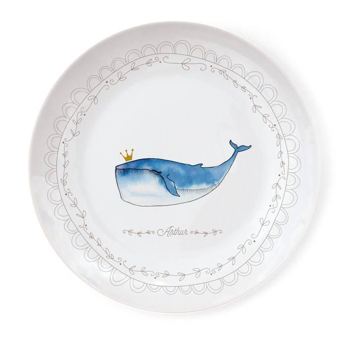 Assiette Porcelaine de Limoges - Baleine