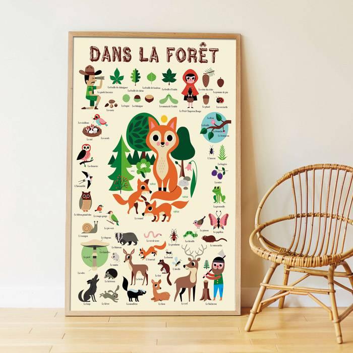 poster-sticker-monde-foret-poppik