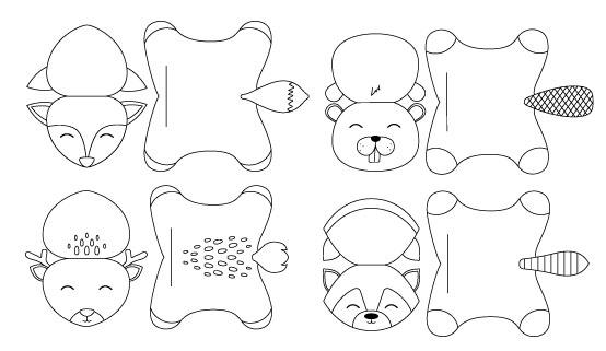 animaux-foret-imprimer-colorier