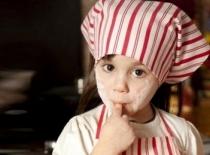 Les petits chefs en cuisine