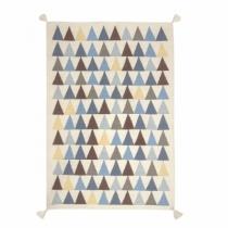 Kilim-tapis-artforkids-triangles-bleus