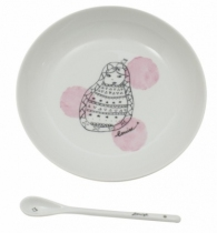 Assiette-cuillere-porcelaine-matriochka