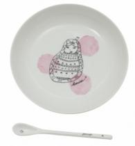 Assiette-cuillere-porcelaine-matriochka