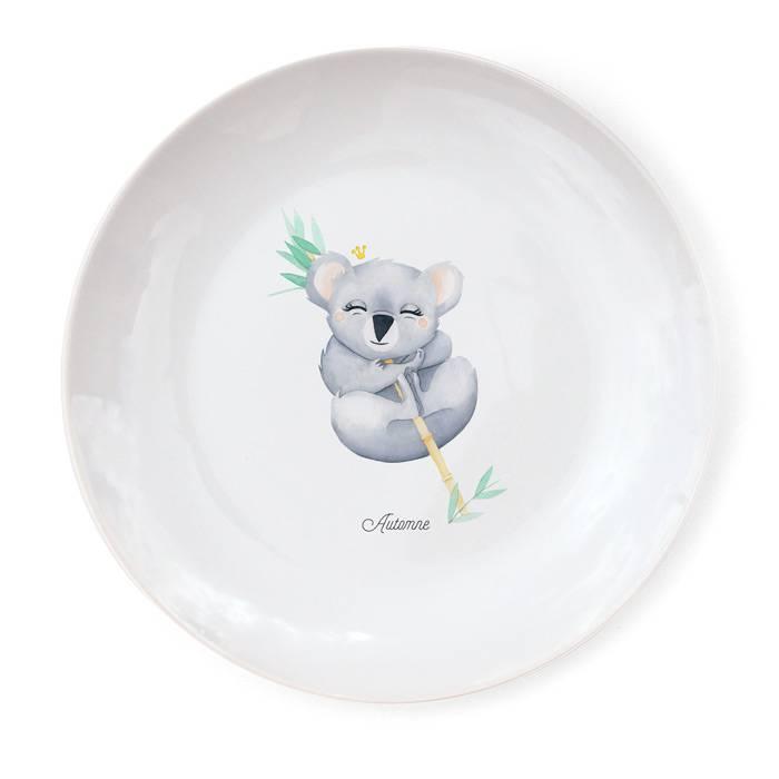 Assiette-Porcelaine-personnalisation-koala-Gaëlle-Duval