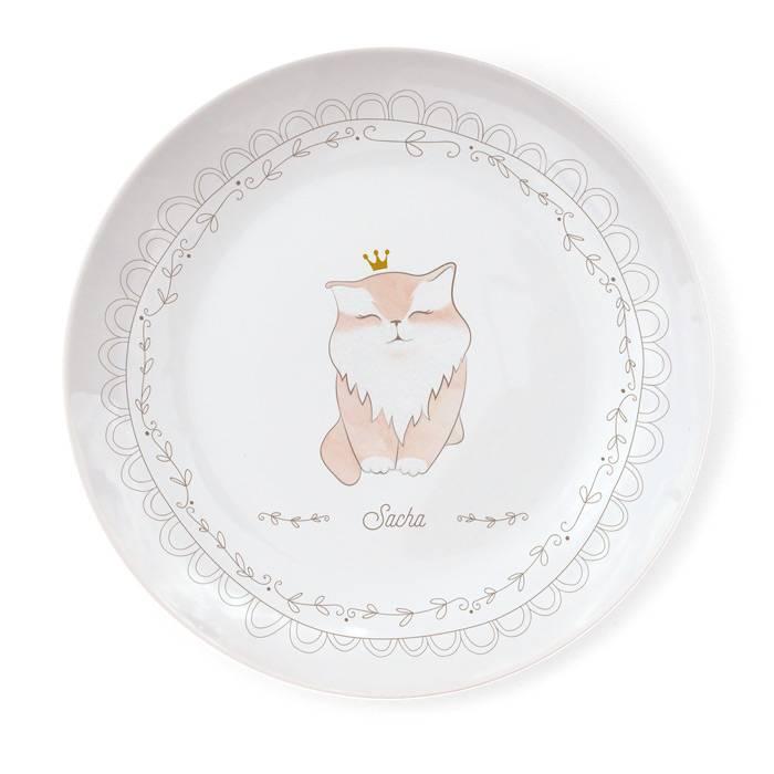 Assiette Porcelaine de Limoges - Chat