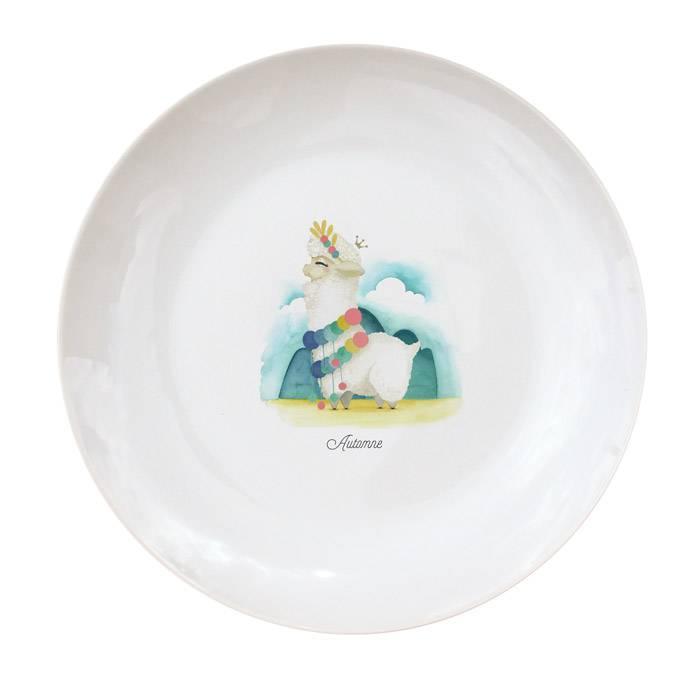 Assiette Porcelaine de Limoges - Faon