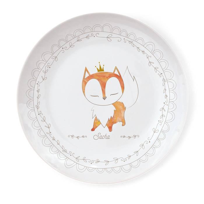 Assiette Porcelaine de Limoges - Renard