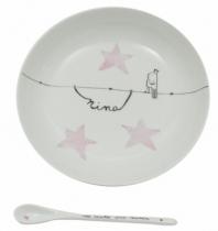 assiette-porcelaine-et-cuillere-personnalisable-oiseau-roi-fille