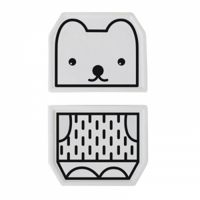 Assiette-porcelaine-design-noir-blanc-ours
