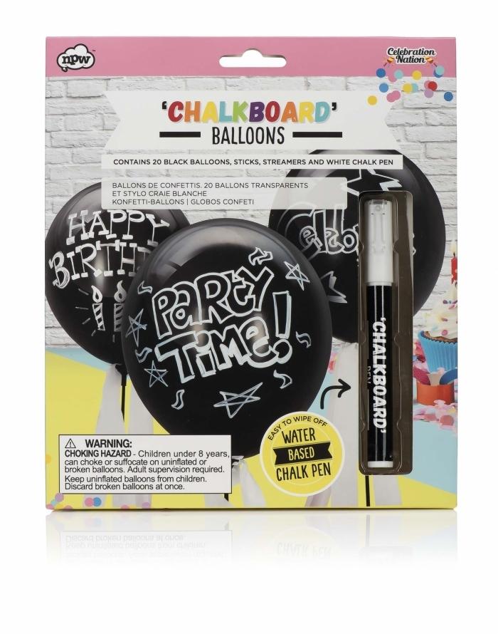 ballon-ardoise-craie-stylo-blanche