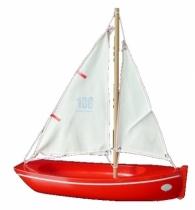 Barque-bois-jouet-long-32-cm-Coque-Rouge