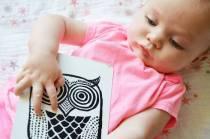 Bebe-carte-image-hibou-noir-et-blanc