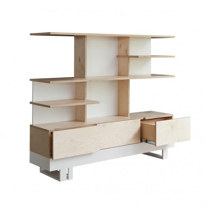 bibliotheque-eco-design-bois-brut-et-peint-blanc