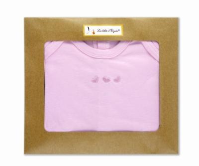 Body-manche-courte-cadeau-naissance-rose