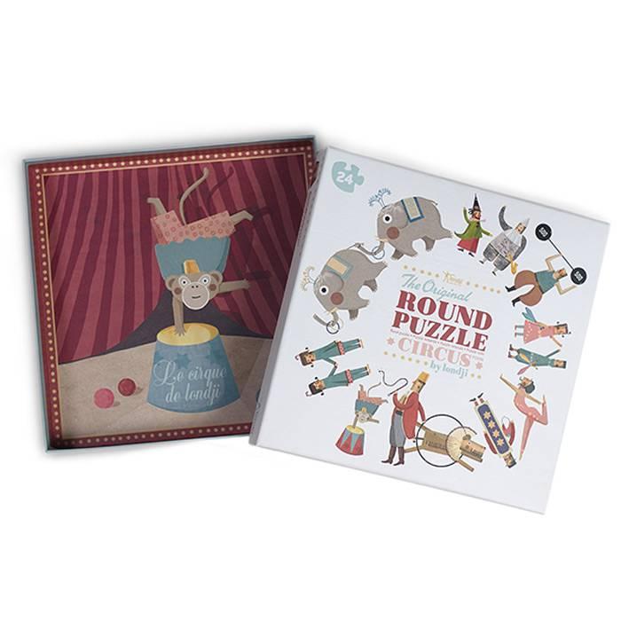 puzzle-rond-theme-cirque-24-pcs