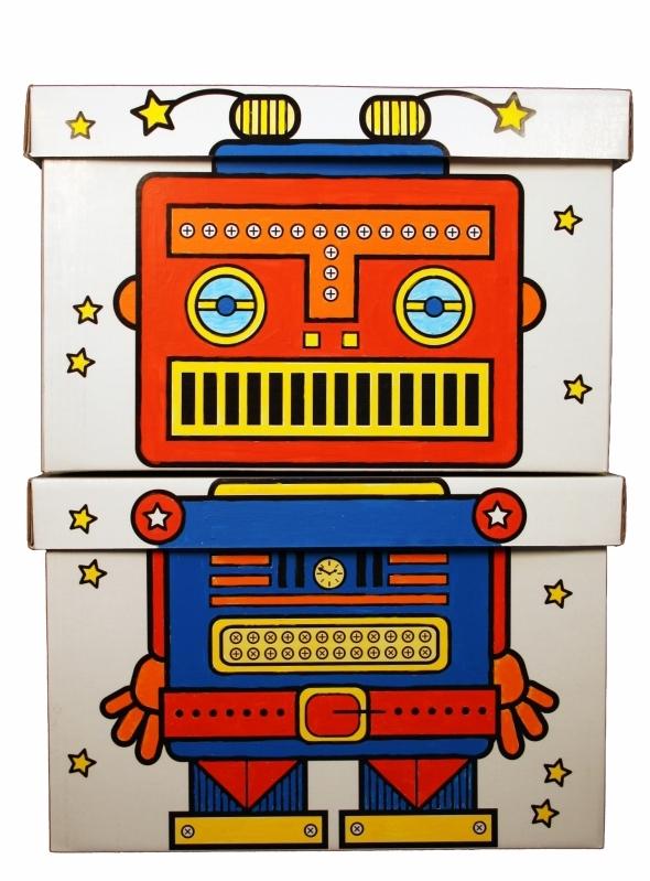 Les-2-boites-de-rangement-robot-coloriees