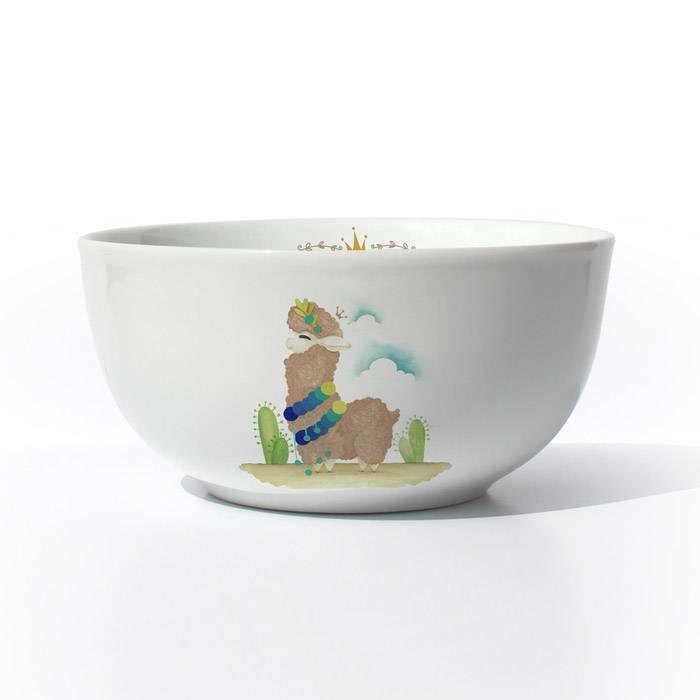 vaisselle-enfant-illustration-lama-brun