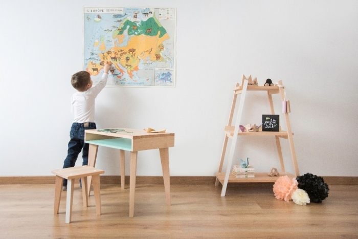 Bureau d 39 colier en bois aurora - Bureau enfant bois massif ...
