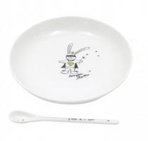 Assiette-cuillere-cadeau-porcelaine-lapin