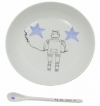 Assiette-cuillere-porcelaine-cadeau-naissance-robot